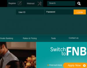 FNB new website