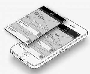 Axure wireframe iphone app