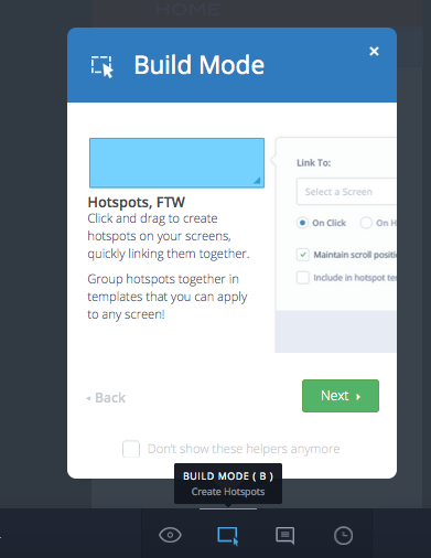 Invision Build Mode