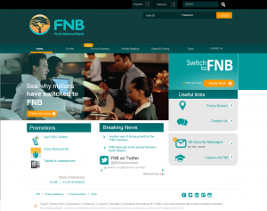FNB new website