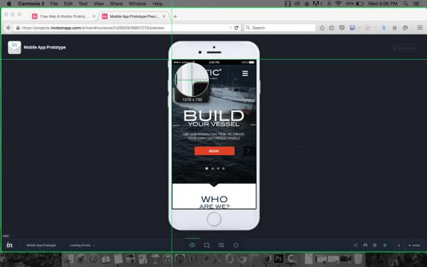 Selecting your custom recording screen using Camtasia